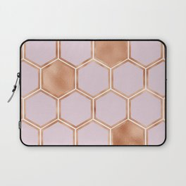 Copper sorbet geometric beehive Laptop Sleeve