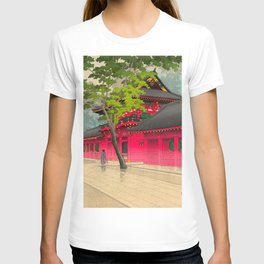 Kawase Hasui After the Rain at Sanno 1938 Japanese Woodblock Print T-shirt