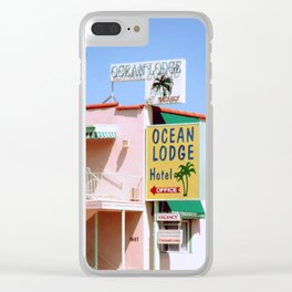 Pastel Hotel Clear iPhone Case