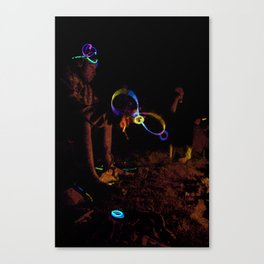 Electric Night Time Canvas Print