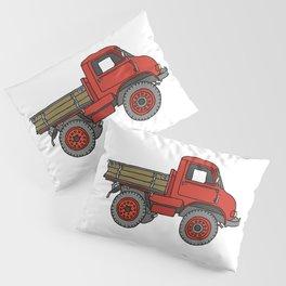Red truck / transporter Pillow Sham