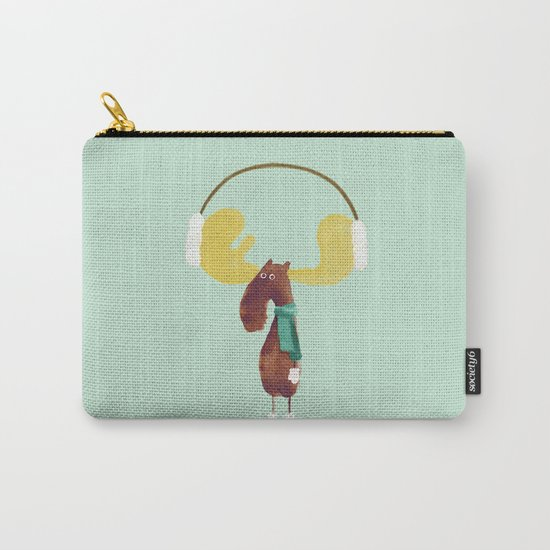 This moose is ready for winter Carry-All Pouch
