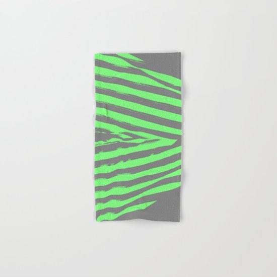 Green & Gray Stripes Hand & Bath Towel