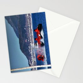 Hovercraft Racing to Town Stationery Cards