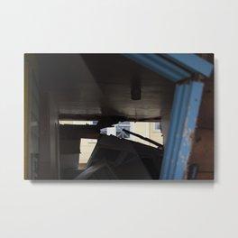 Blue Frame Motel, After Sandy Metal Print