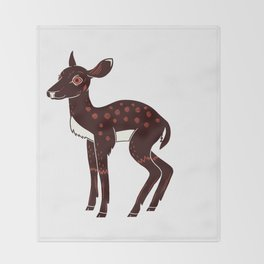 a Deer a Doe Throw Blanket