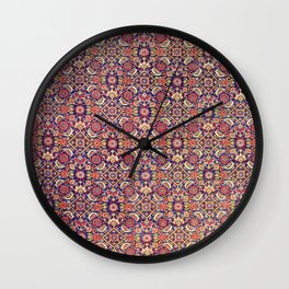 Bijar Kurdish Persian  Antique Tribal Rug Wall Clock