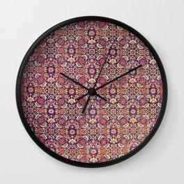 Bijar Kurdish Persian  Antique Tribal Rug Print Wall Clock