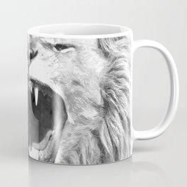 Black White Fierce Lion Coffee Mug