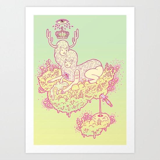 flora and fauna Art Print
