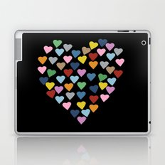 Hearts Heart Black Laptop & iPad Skin