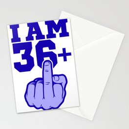 Middlefinger Up I'm 36th Birthday Gift Idea Stationery Cards