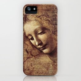 Leonardo Da Vinci - Head of a young woman with tousled hair or, Leda iPhone Case