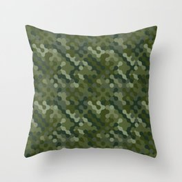 Camouflage Pattern | Camo Stealth Hide Military Throw Pillow