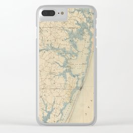 Vintage Map of Ocean City Maryland (1900) Clear iPhone Case