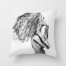 Released from the Grid Throw Pillow