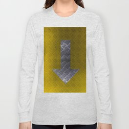 Industrial Arrow Tread Plate - Down Long Sleeve T-shirt