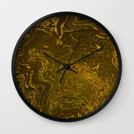 Melted gold Wall Clock