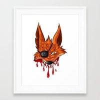fnaf Framed Art Prints featuring FNAF: Foxy the Pirate by Hide-N-Seek