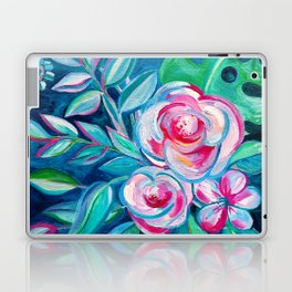 Tropical Camellia Extravaganza - oil on canvas Laptop & iPad Skin