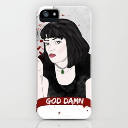 Pulp Fiction's Mia Wallace iPhone Case