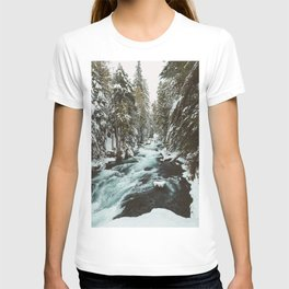 The Wild McKenzie River Portrait - Nature Photography T-shirt