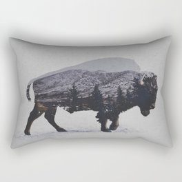 The American Bison Rectangular Pillow