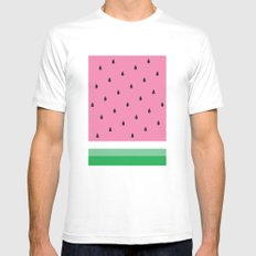 Watermelon Mens Fitted Tee MEDIUM White
