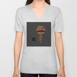 Button Me Up Unisex V-Neck