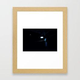 Moon light, bulb light Framed Art Print