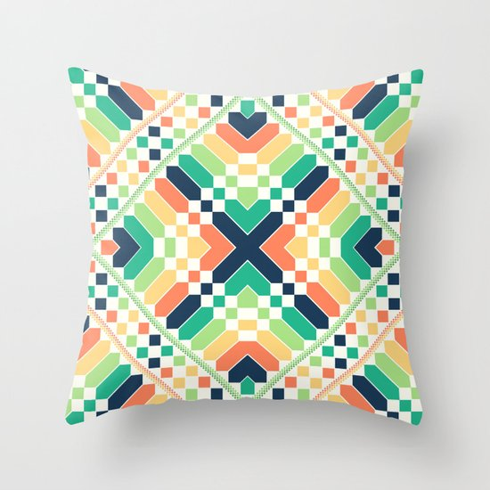 Retrographic Throw Pillow