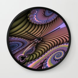 The feel of movement, digital abstract Wall Clock