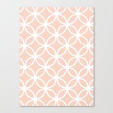 Peach Geometric Circles Canvas Print