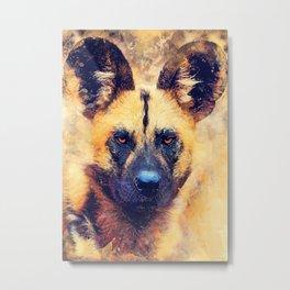 african wild dog #wilddog #animals Metal Print
