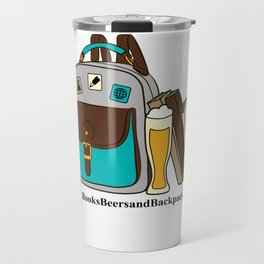 Books Beers & Backpacks Logo Travel Mug