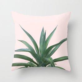 Cactus Photography Pink Throw Pillow