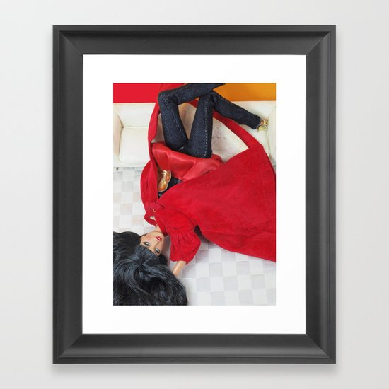 Red As Rouge Framed Art Print