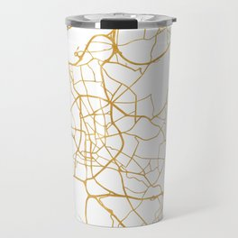 DÜSSELDORF GERMANY CITY STREET MAP ART Travel Mug