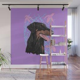 Happy doberman dog - Lila Wall Mural