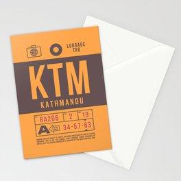 Baggage Tag B - KTM Kathmandu Tribhuvan Nepal Stationery Cards