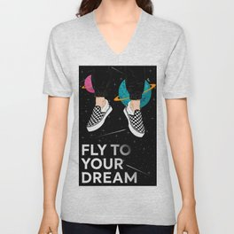 Fly To Your Dream Unisex V-Neck