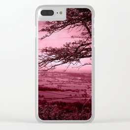 Rosy Evening Clear iPhone Case