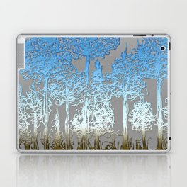 Blue and white forest Laptop & iPad Skin