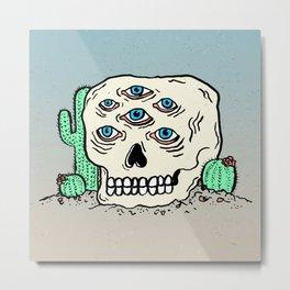 DIE IN THE DESERT Metal Print
