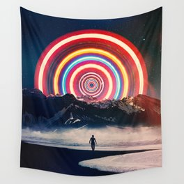 Behind The Mountain Wall Tapestry