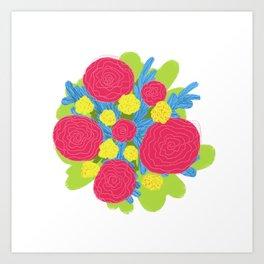 Bouquet #3 Art Print