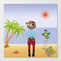 pirate Canvas Prints featuring Pirate by MyimagesArt