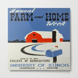 Vintage poster - Annual Farm and Home Week Metal Print