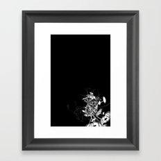 Datadoodle Flowers B/W Framed Art Print