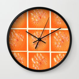 Taking Flight - Orange Yellow and Red Palette Wall Clock